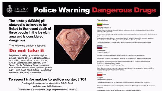 Dangerous drugs warning leaflet