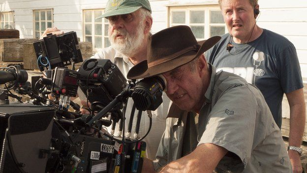 Dick Pope and a camera