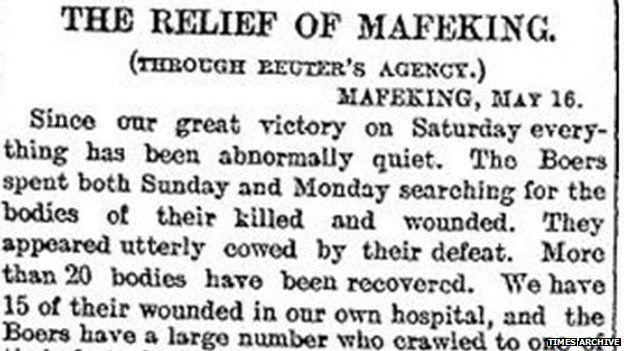 Update on the Boer war