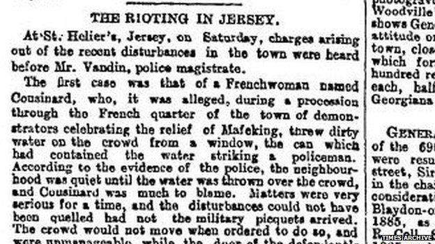 Rioting in Jersey