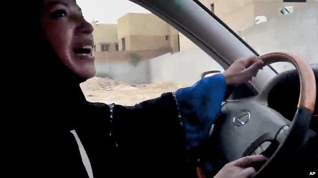 Saudi woman diving a car in protest
