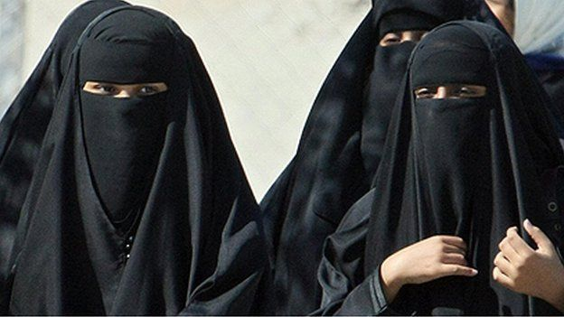 Two Saudi women niqab