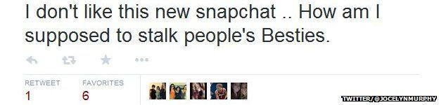 tweet from snapchat user