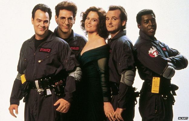 Dan Aykroyd, Harold Ramis, Sigourney Weaver, Bill Murray and Ernie Hudson
