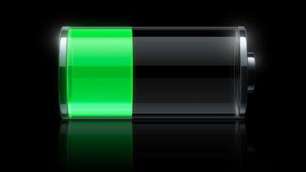 Charging iPhone battery symbol