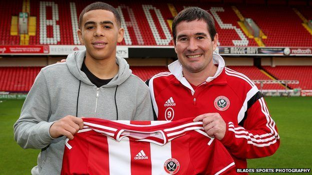 Che Adams and Nigel Clough