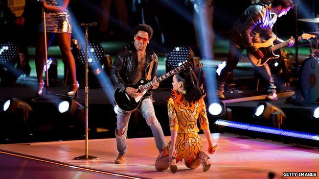 Katy Perry and Lenny Kravitz