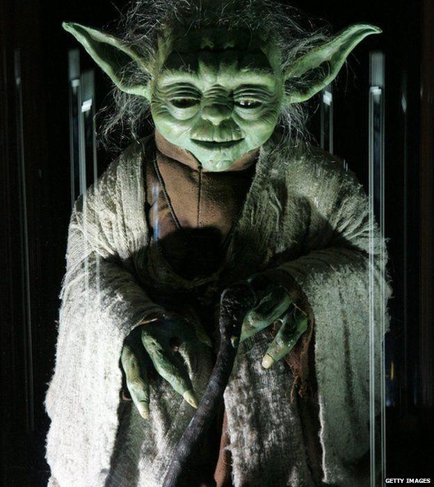 The original Yoda puppet