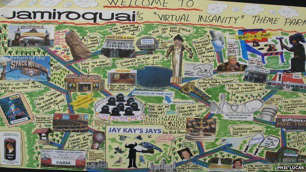 Jamiroquai virtual insanity Theme park sketch