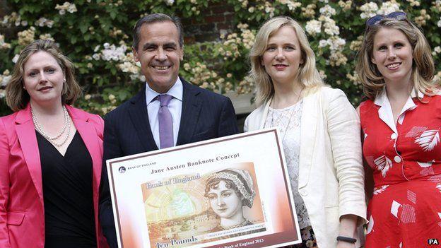 Mary Macleod MP, Mark Carney, Governor of the Bank of England, Stella Creasy MP and Caroline Criado-Perez.