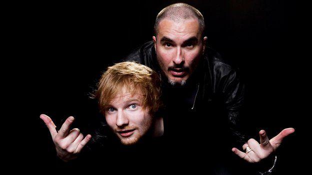 Zane Lowe and Ed Sheeran
