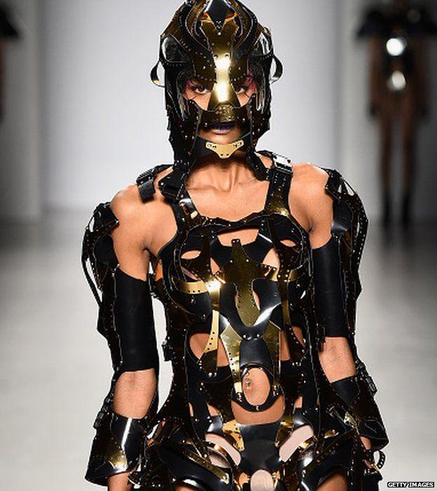 A model walks the runway wearing Antonio Urzi collection at the FTL Moda fashion show