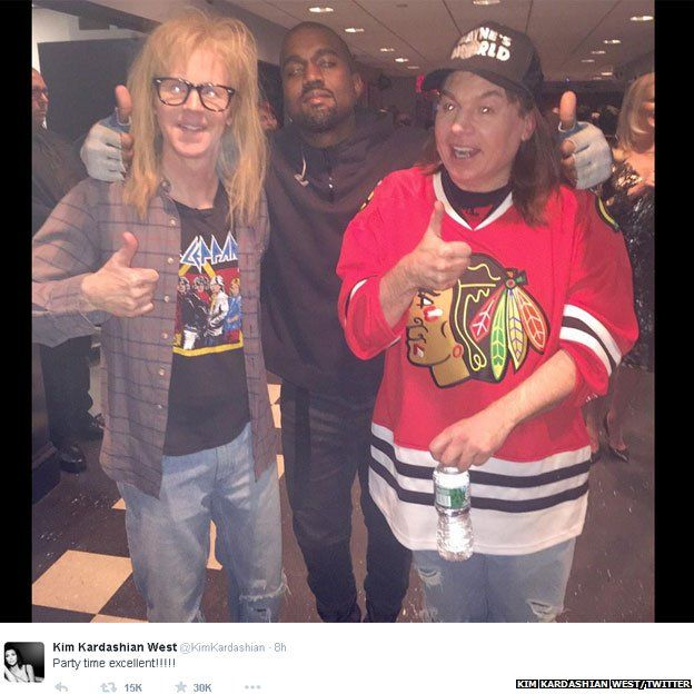 Kanye West meets Garth and Wayne