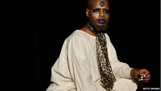 Performance artist Serpentwithfeet also performed at the Thaddeous O'Neil show
