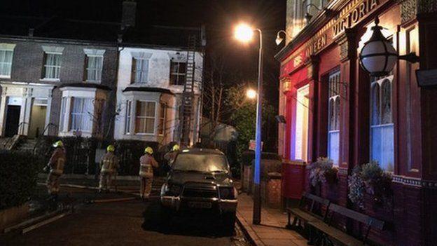 Fire on EastEnders set