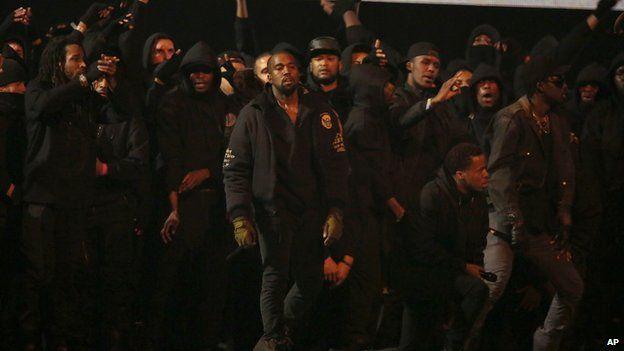 Kanye at The BRITs 2015