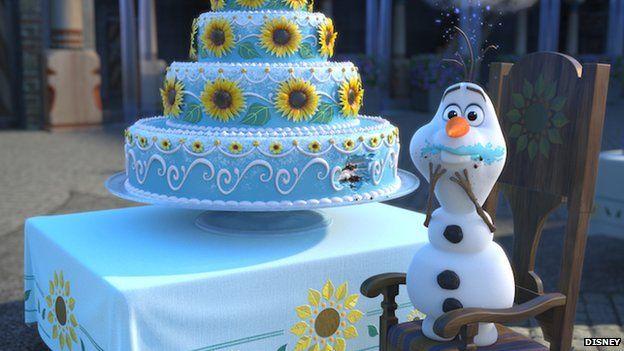 Olaf eating cake