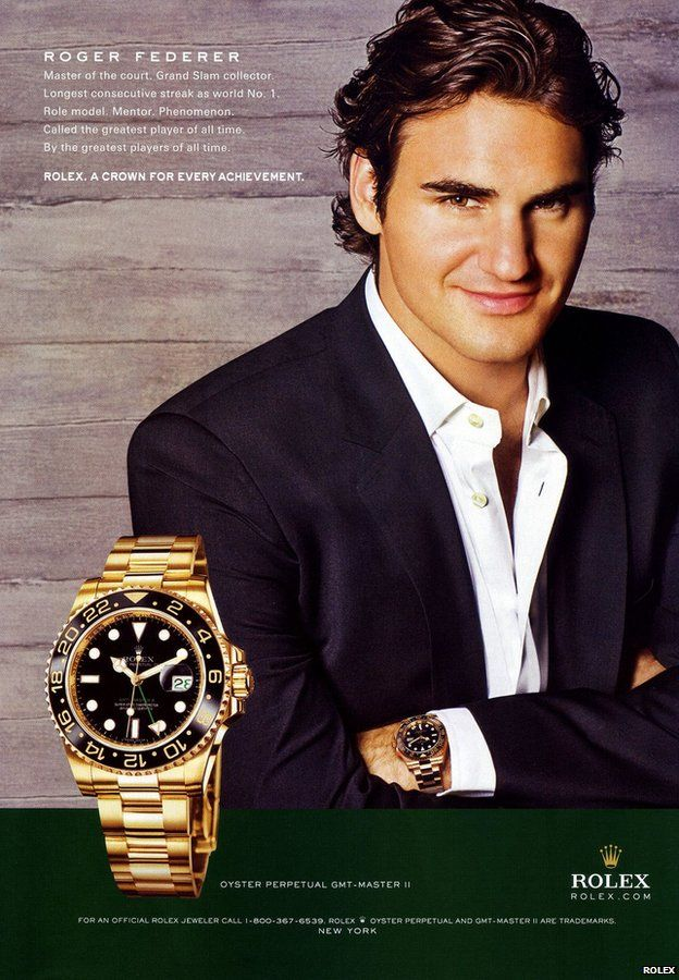 Advert for Rolex