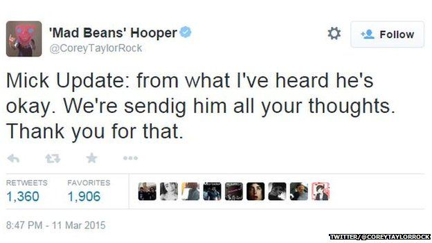 Corey Taylor's tweet
