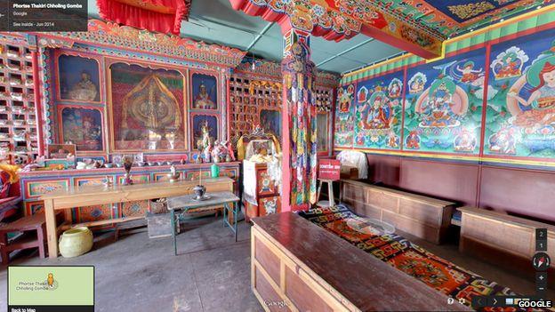 Inside of a monastery
