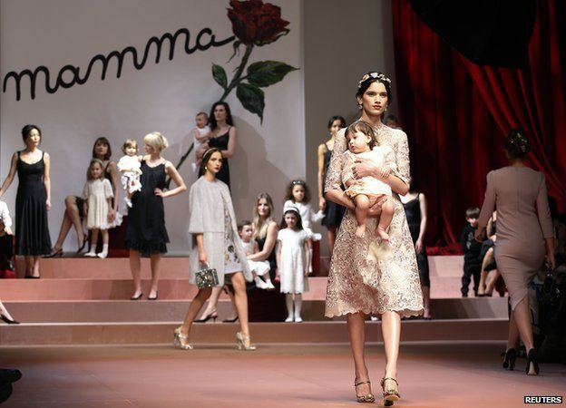 Dolce and Gabbana show in Milan