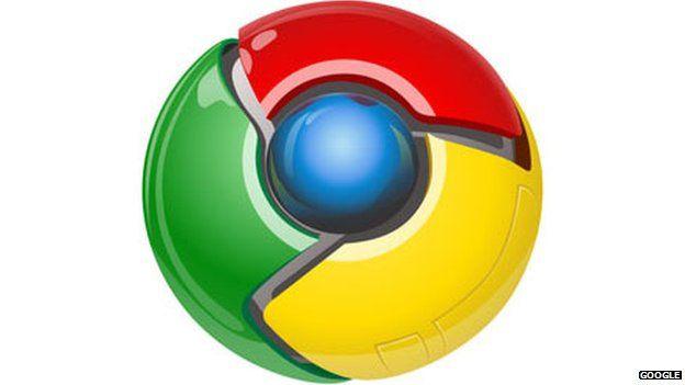 The old Google Chrome logo