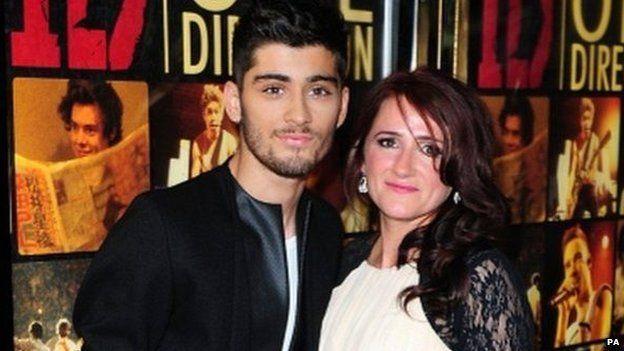 Zayn with mum, Trisha