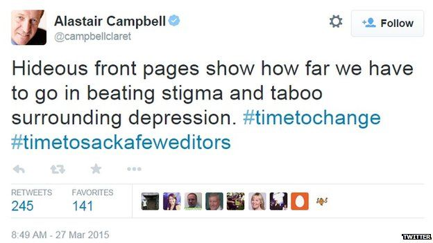 Alastair Campbell criticises the media's coverage.