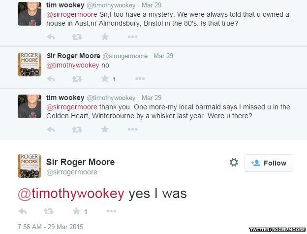 Roger Moore tweet about Golden Heart