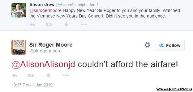 Roger Moore tweet about Viennese concert