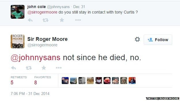 Roger Moore on Tony Curtis