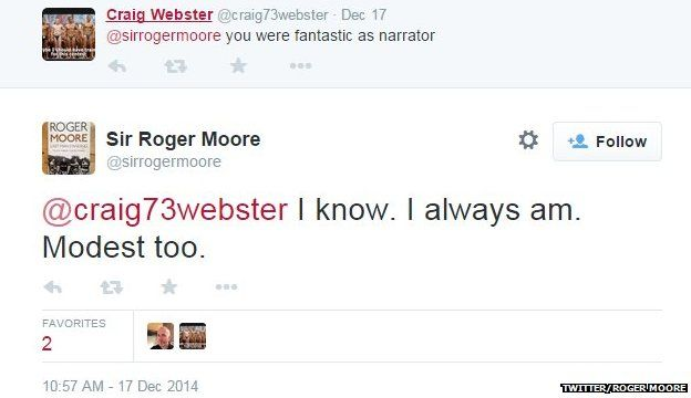 Roger Moore on being narrator