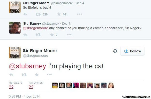 Roger Moore on playing Blofeld's cat