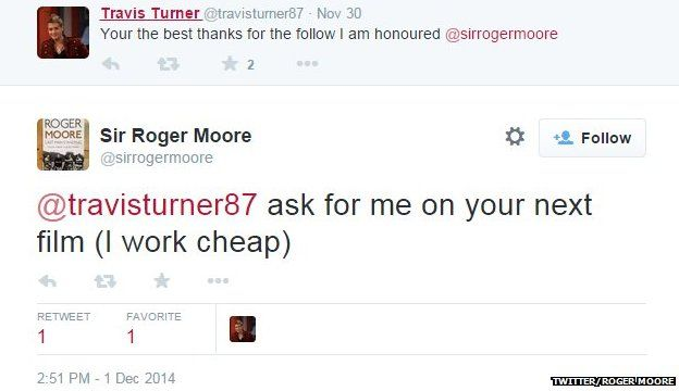 Roger Moore on working cheap