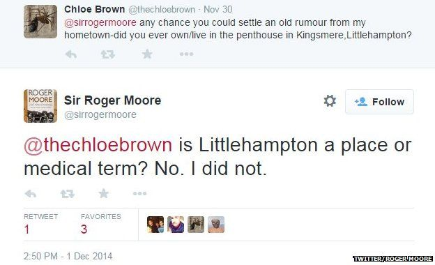 Roger Moore on not living in Littlehampton
