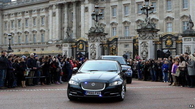 David Cameron leaves Buckingham Palace