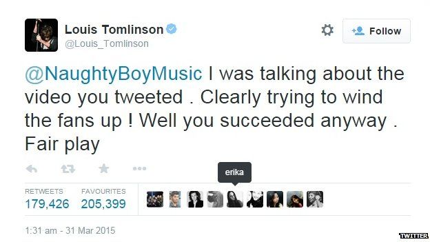 Louis Tomlinson reacted angrily to the leak.