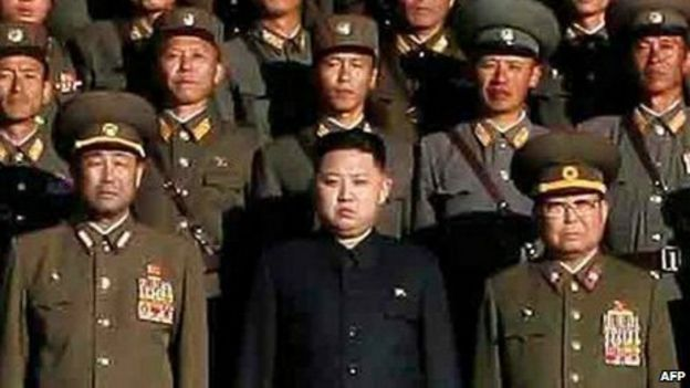 The man thought to be Kim Jong-un in a photo released by North Korean state media