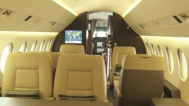The inside of a jet in Lagos, Nigeria -luxafrique