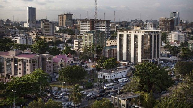A view of buildings in the Victoria Island district of Lagos -LUXAFRIQUE