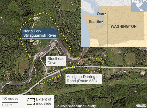 Landslide Maps Washington Map of Oso Washington