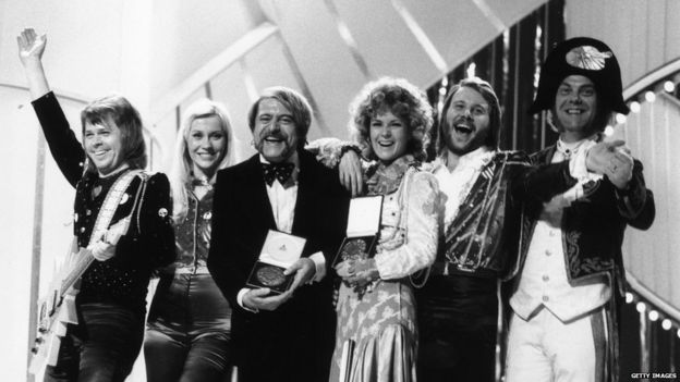 Abba winning the Eurovision song contest