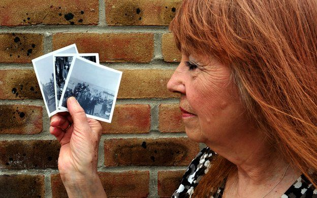 Image caption Shirley Hall remembers Clacton 1964 as a day out with friends at the seaside. She went on to become a police woman - _74288796_lpc_4364