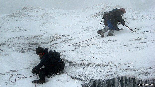 Mountaineers on Mount Stanley, Uganda