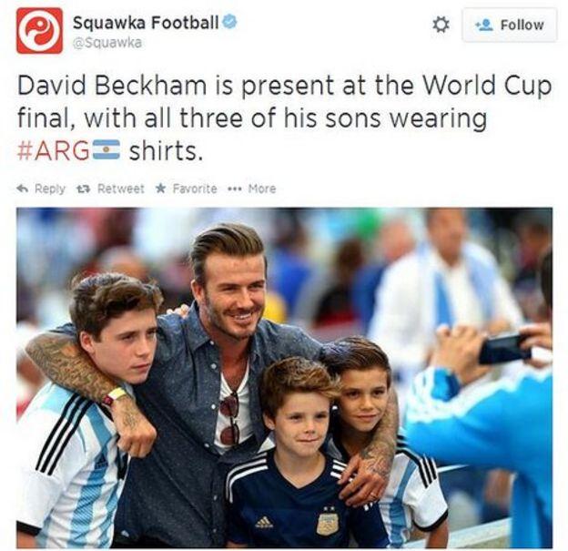David Beckham World Cup Final David Beckham at World Cup