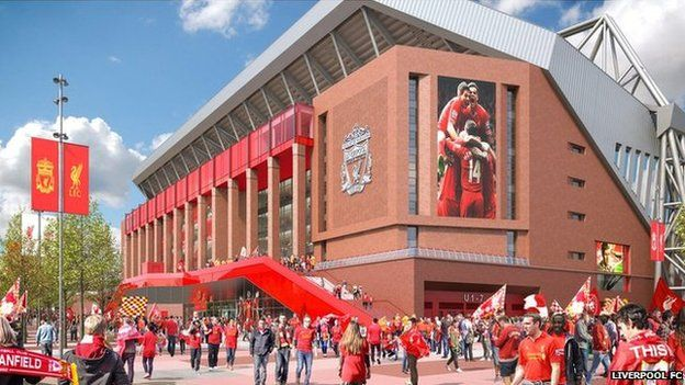 Billedresultat for anfield stadium