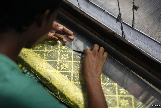 A weaver at work