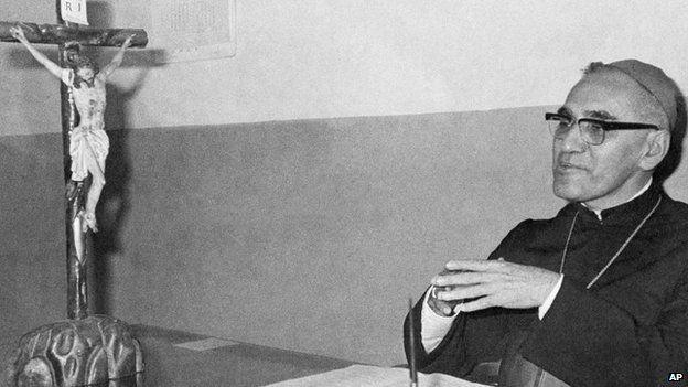 Archbishop Oscar Oscar Romero of El Salvador is seen in this 1977 file photo