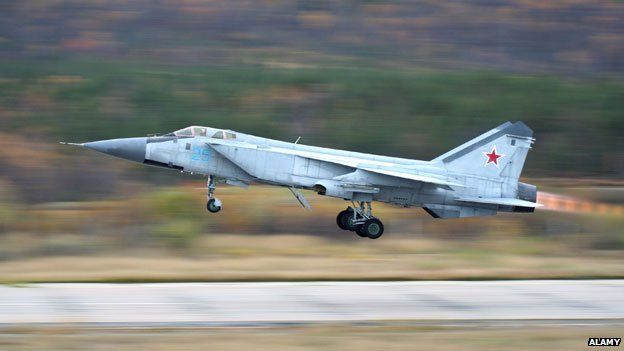 The MiG 31 interceptor