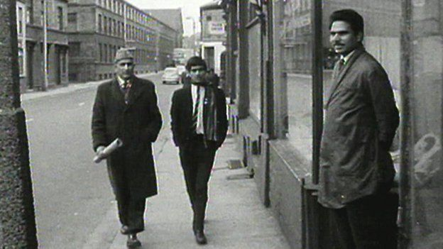 Pakistani men in Bradford in 1960
